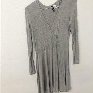 Light gray wrap dress